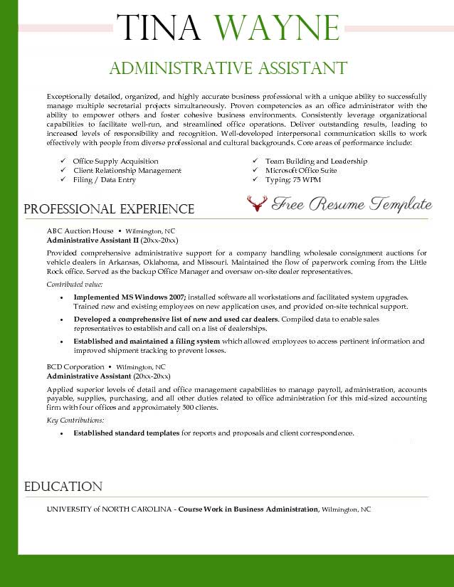 administrative assistant resume templates resume sample administrative assistant resume template resume samples resume sample administrative assistant
