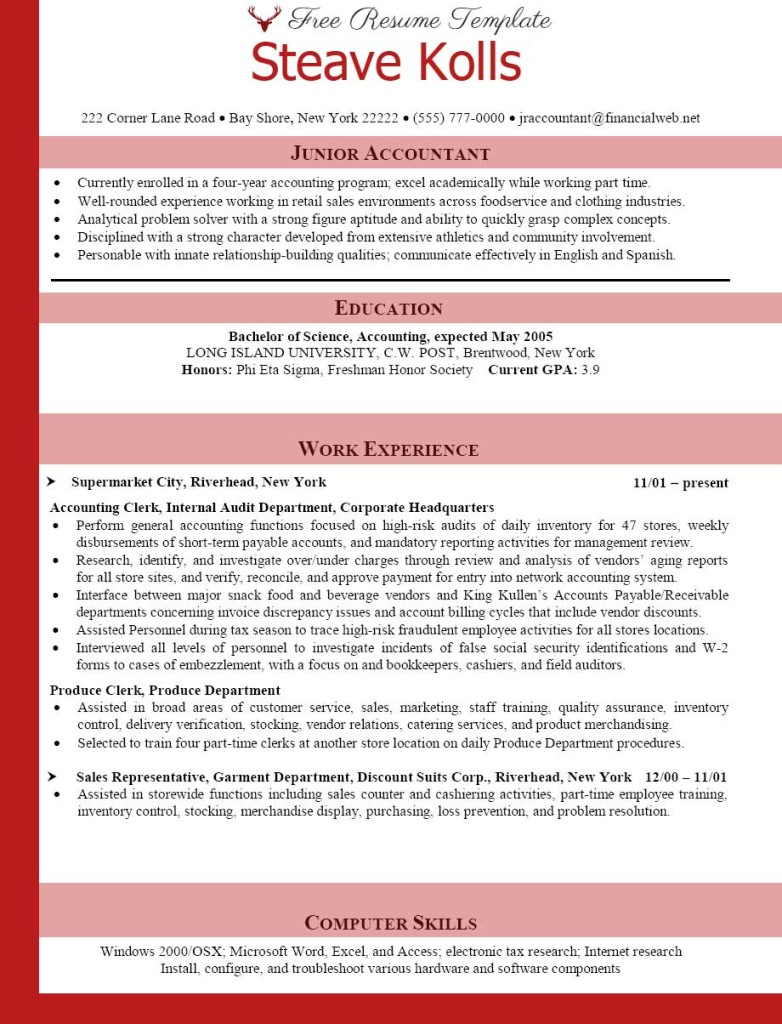 Accounting Resume Examples  Best Accountant Templates