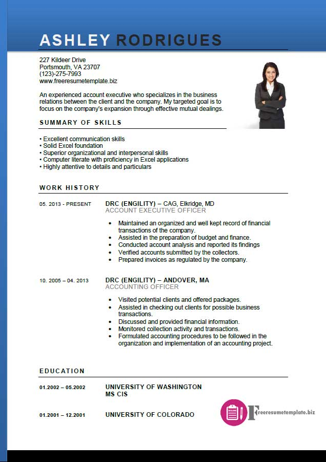 account executive resume template 1 account executive resume template 2
