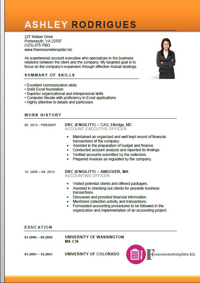 Beautiful ... Account Executive Resume Template 3 ...