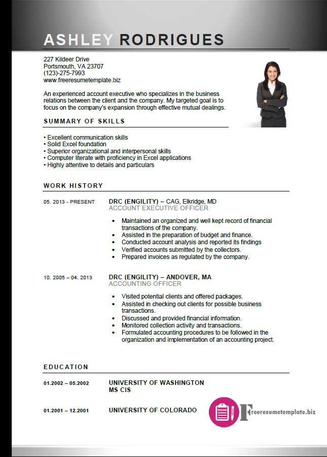 ... Account Executive Resume Template 6