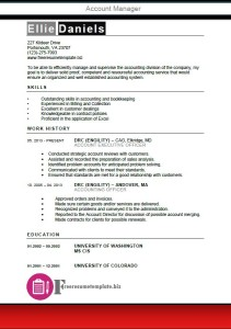 Account Manager Resume Template 1