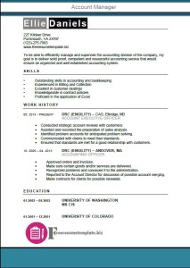 Account Manager Resume Template 3