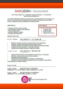 Accountant Resume Template 1