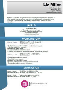 Accounting Resume Template 1