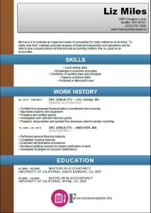Accounting Resume Template 2
