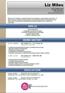 Accounting Resume Template 6