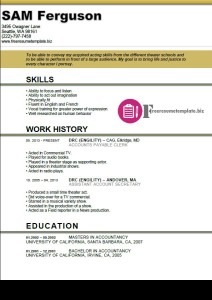 actor resume template 1