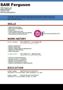 actor resume template 2