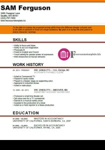 actor resume template 3