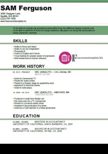 actor resume template 5