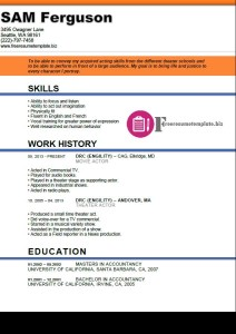 actor resume template 6
