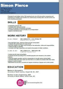 Airline Pilot Resume Template