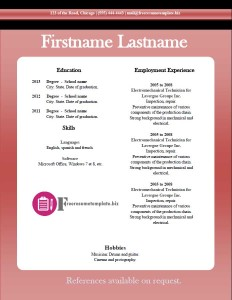 free resume template 15