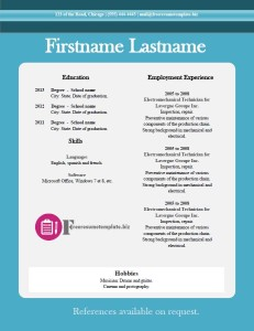 free resume template 18