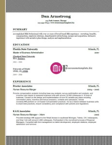 free resume template 25