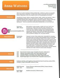 free resume template 41