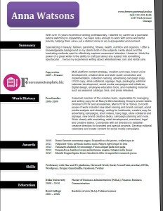 free resume template 42