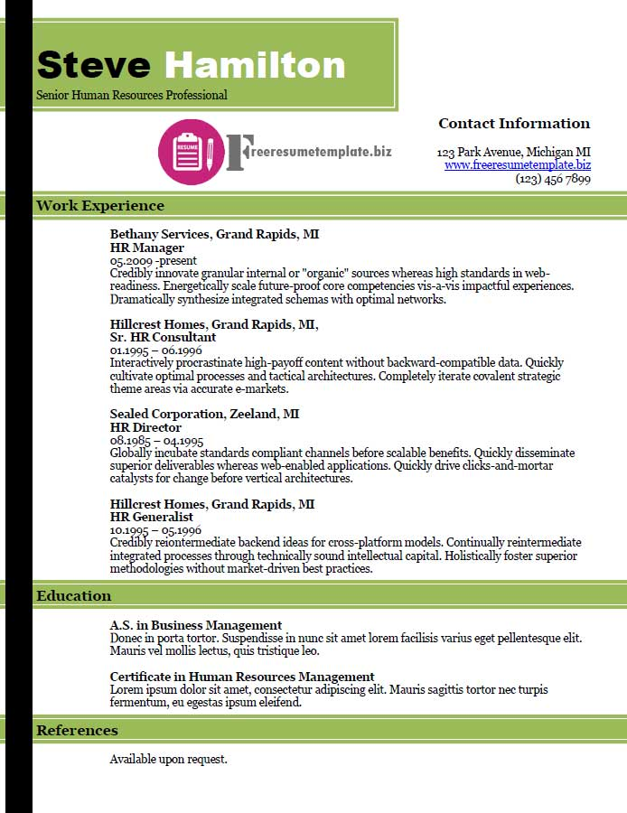 free resume template 32