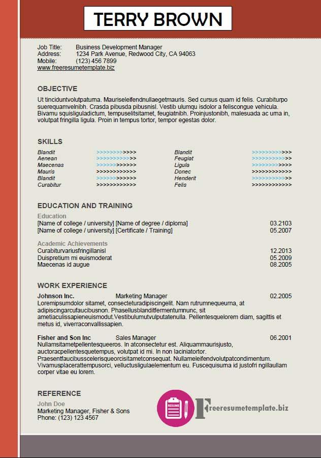 free resume template 43